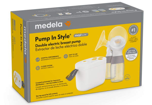 Medela Pump in Style with MaxFlow insurance set packaging