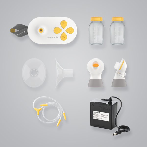 Medela Pump in Style with MaxFlow insurance set components