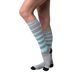 Capa Maternity Compression Socks-Teal Stripe 250x250