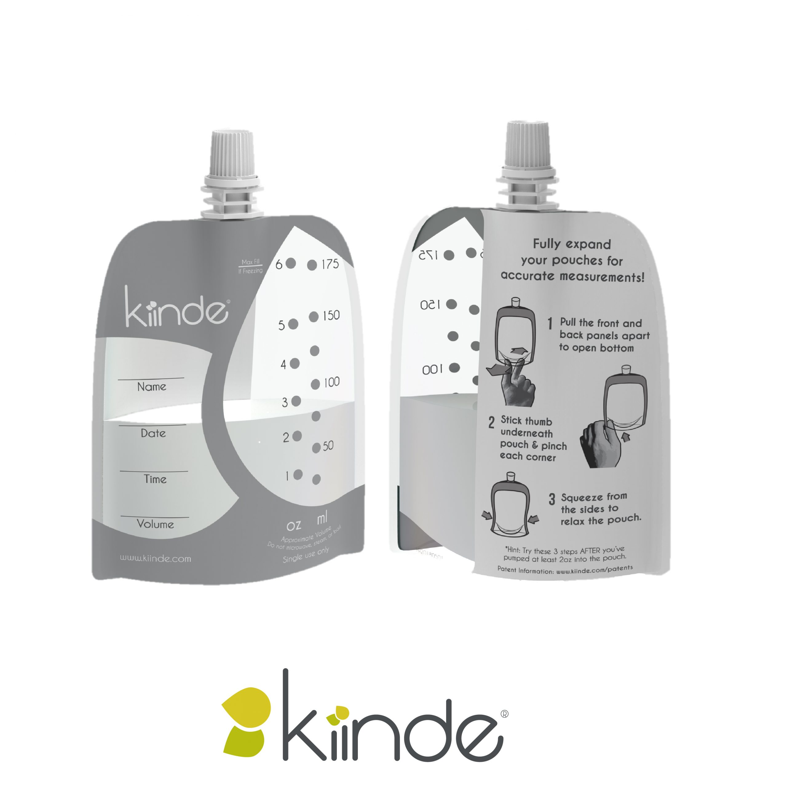Kiinde Narrow Neck Pouch Front and Back