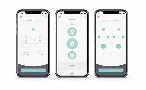 Elvie Double App Screens
