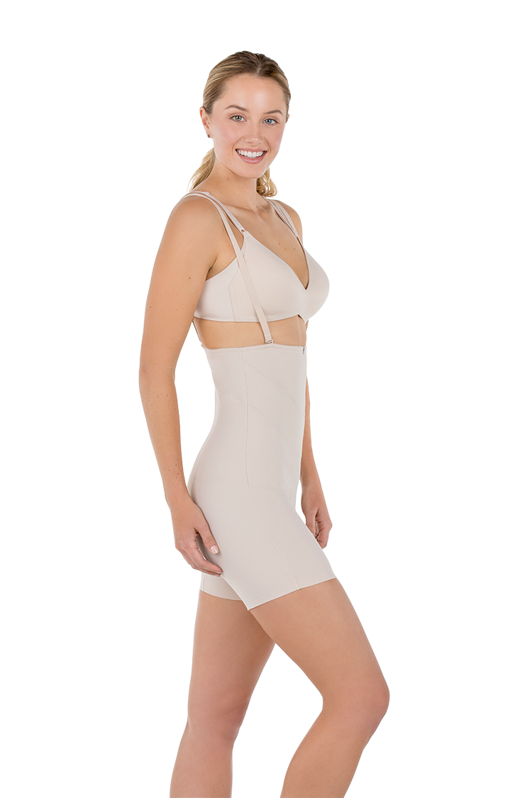 Sienna C-Section Recovery Garment Side View-Nude
